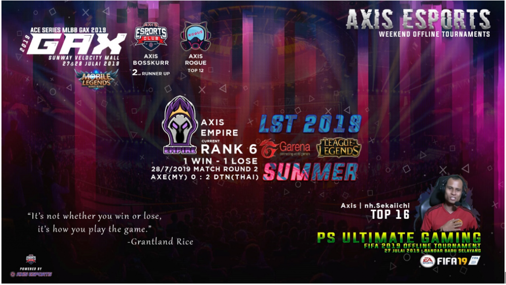 AXIS ESPORTS – WEEK IN REVIEW (22-28 JULY 2019) 1