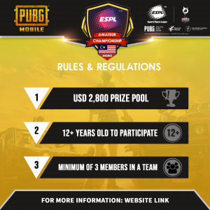 Rules and Regulation Banner PUBGM (Malaysia)